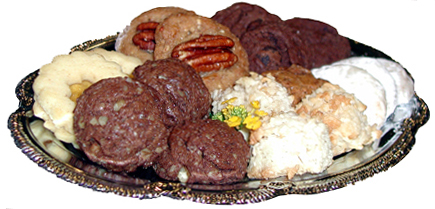 Party or meeting gourmet homemade cookie tray..